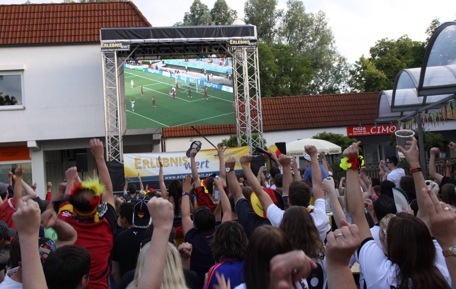 Sportveranstaltung; LED-Wand; Outdoor; Fanmeile; Public-Viewing; Event